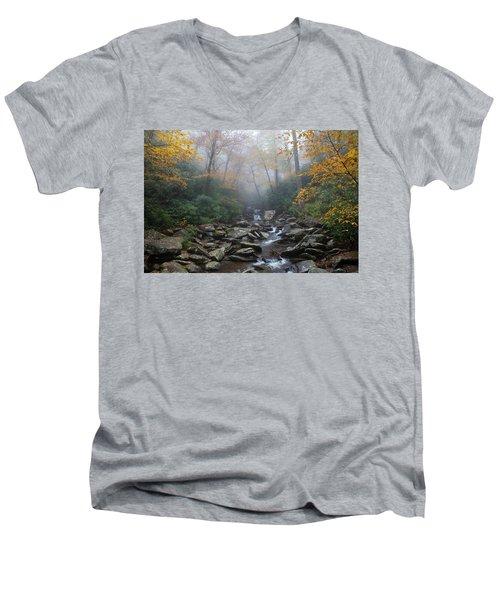 Misty Morning Magic Men's V-Neck T-Shirt
