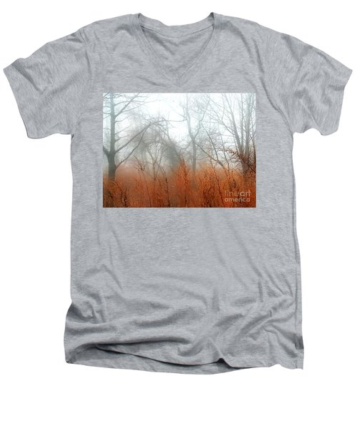 Misty Morning Men's V-Neck T-Shirt by Raymond Earley