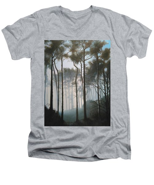 Misty Morning Walk Men's V-Neck T-Shirt