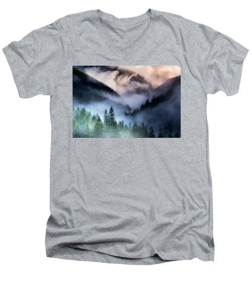 Misty Mornings Men's V-Neck T-Shirt