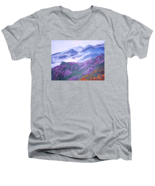 Misty Mountain Hop Men's V-Neck T-Shirt