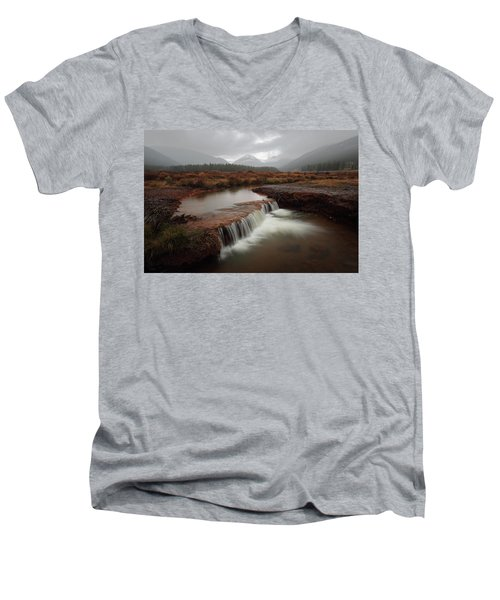 Misty Mountain Majesty  Men's V-Neck T-Shirt