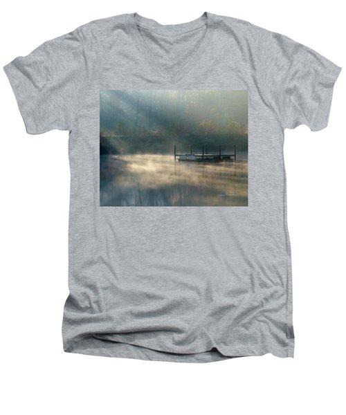 Misty Sunrise Men's V-Neck T-Shirt