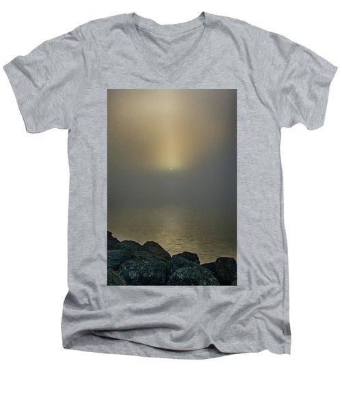 Misty Sunrise Morning Men's V-Neck T-Shirt