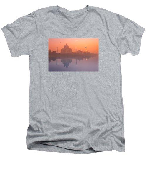 Misty Sunset Men's V-Neck T-Shirt