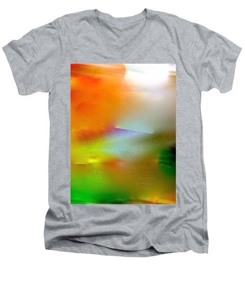 Men's V-Neck T-Shirt featuring the digital art Misty Waters by Patricia Schneider Mitchell