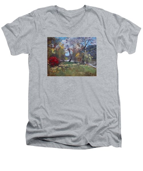 Mixed Weather In A Fall Afternoon Men's V-Neck T-Shirt by Ylli Haruni