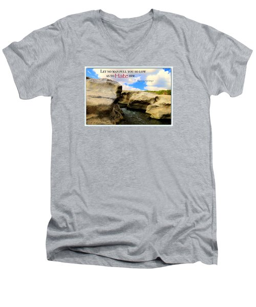 Men's V-Neck T-Shirt featuring the photograph Mlk 1 by David Norman