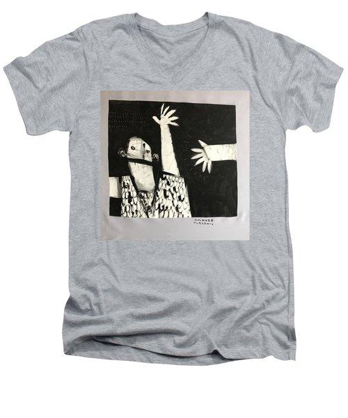Mmcvii Paranoia No 2  Men's V-Neck T-Shirt