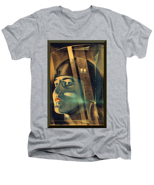 Men's V-Neck T-Shirt featuring the photograph Metropolis Maria Transformation by Robert G Kernodle