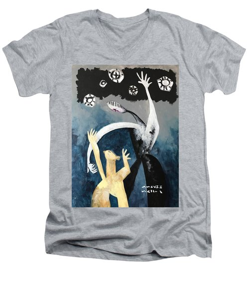 Mmxvii The Ascension No. 2  Men's V-Neck T-Shirt