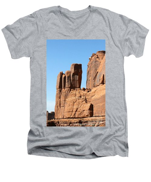 Moab Rocks Men's V-Neck T-Shirt