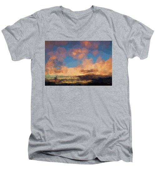 Moab Sunrise Abstract Painterly Men's V-Neck T-Shirt