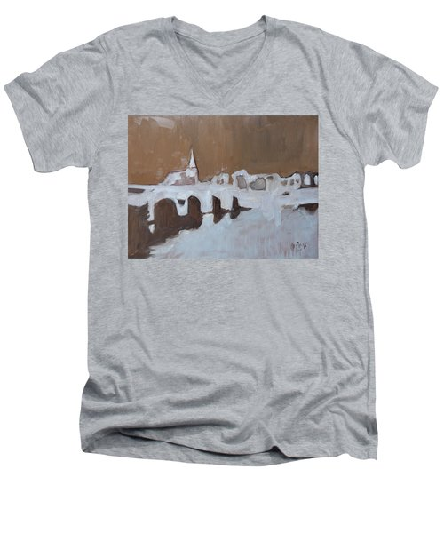 Moasbrogk In Brown Tints Men's V-Neck T-Shirt by Nop Briex