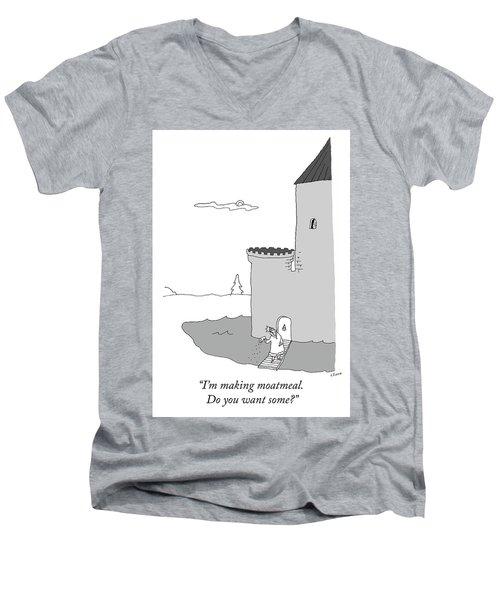 Moatmeal Men's V-Neck T-Shirt