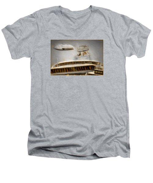 Moby Air Men's V-Neck T-Shirt by Michael Cleere
