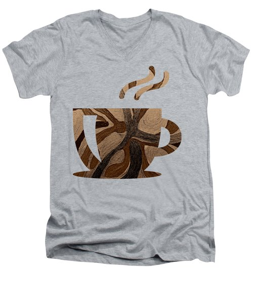 Mocha Java Swirl Men's V-Neck T-Shirt