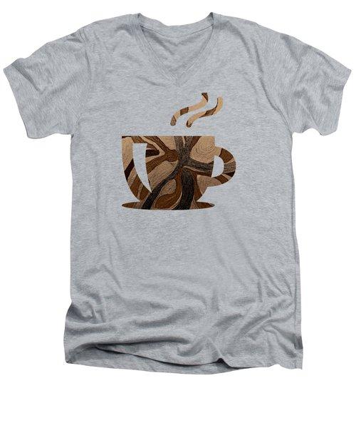 Mocha Java Swirl Men's V-Neck T-Shirt