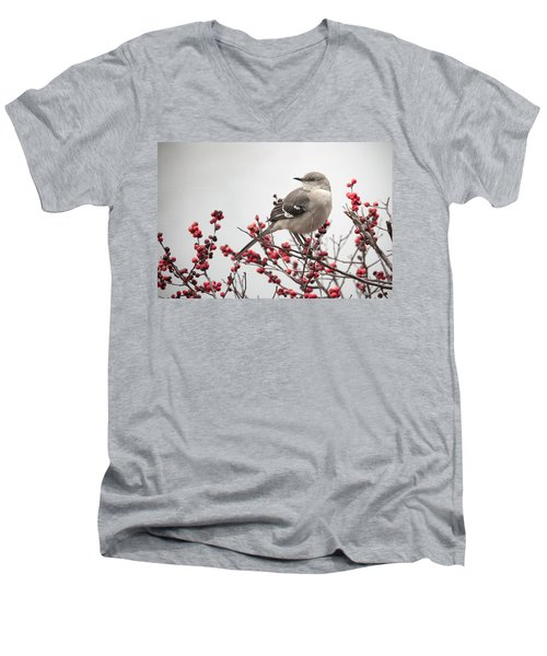 Mockingbird And Berries Men's V-Neck T-Shirt