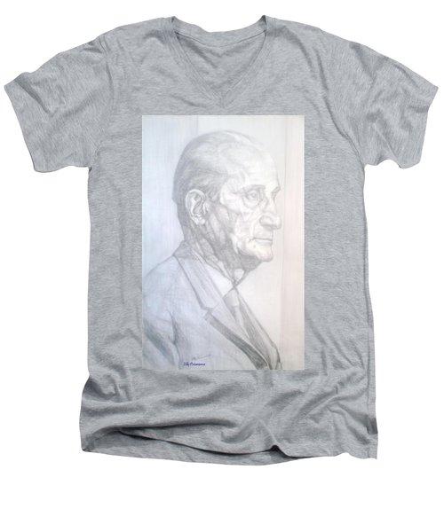 Model Men's V-Neck T-Shirt