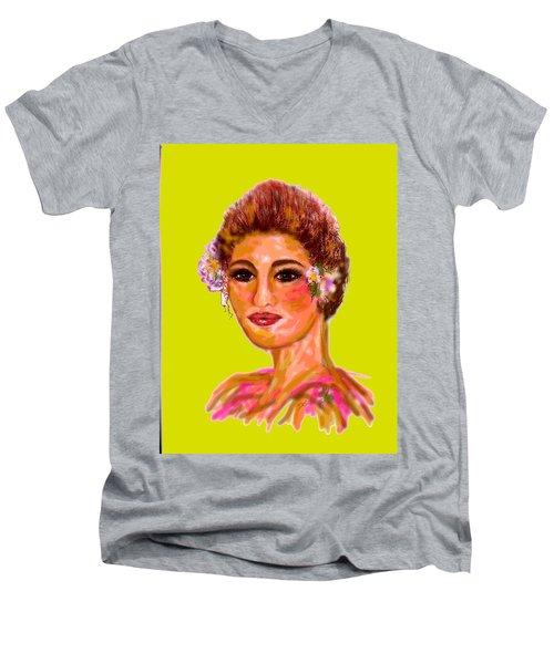 Model Mode Men's V-Neck T-Shirt