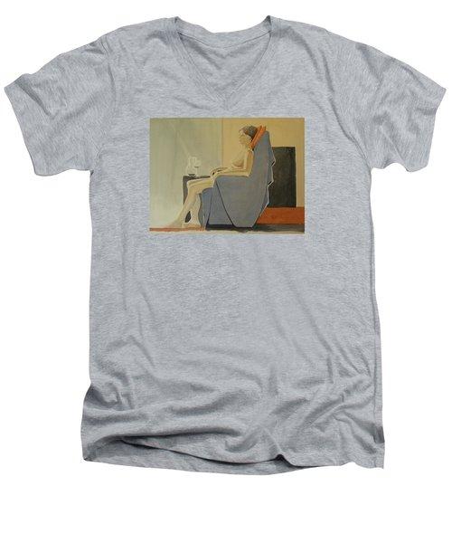 Modell Akvarell 2013 06 15-16 133 Men's V-Neck T-Shirt