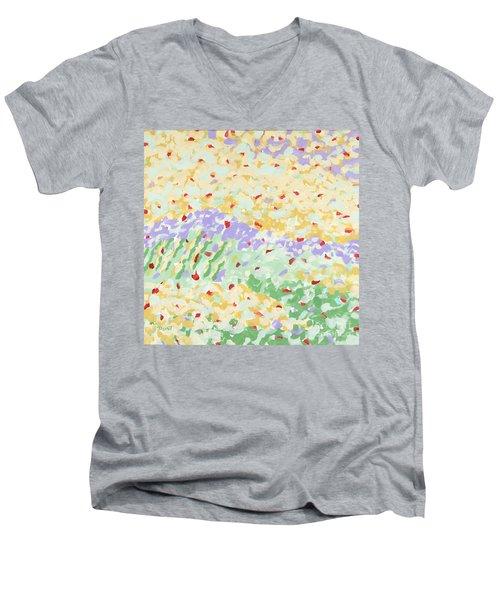 Modern Landscape Painting 3 Men's V-Neck T-Shirt