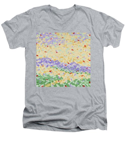 Modern Landscape Painting 4 Men's V-Neck T-Shirt