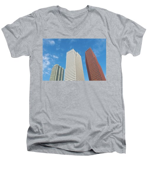 Modern Skyscrapers Men's V-Neck T-Shirt by Hans Engbers