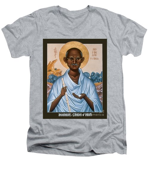 Mohandas Gandhi - Rlmog Men's V-Neck T-Shirt