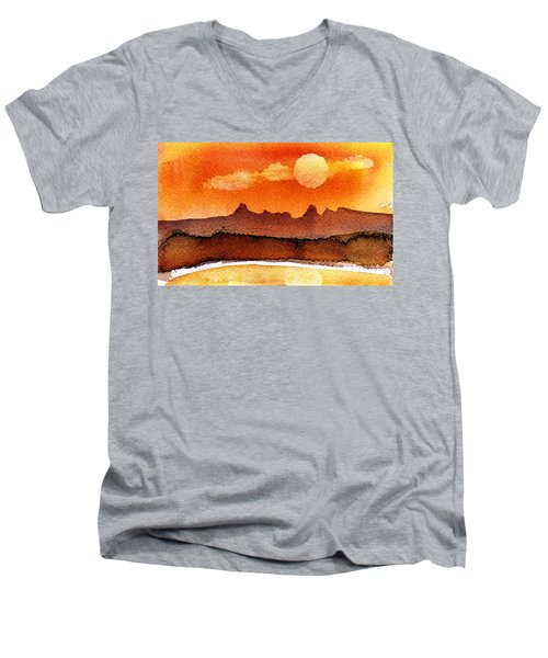 Mohavae Moon Men's V-Neck T-Shirt