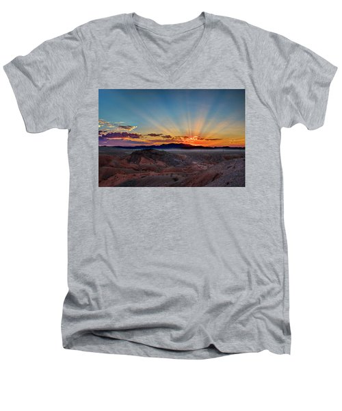 Mohave Sunrise Men's V-Neck T-Shirt