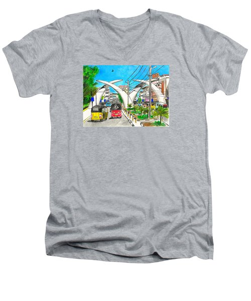 Moi Ave, Mombasa Tusks  Men's V-Neck T-Shirt