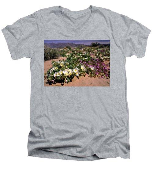 Mojave Desert In California Men's V-Neck T-Shirt