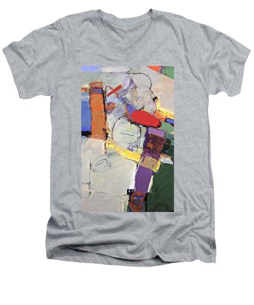 Mojo Rizen Via La Woman Men's V-Neck T-Shirt by Cliff Spohn