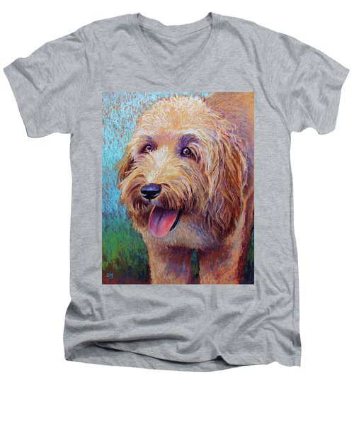 Mojo The Shaggy Dog Men's V-Neck T-Shirt