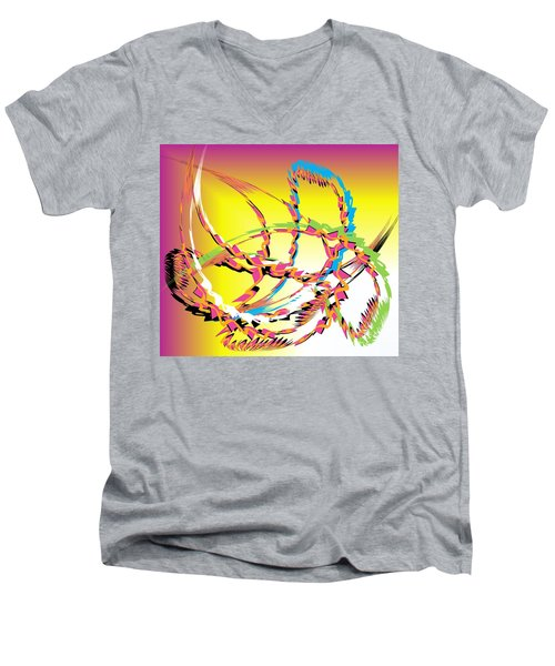 Molecular Energy Men's V-Neck T-Shirt by Belinda Threeths