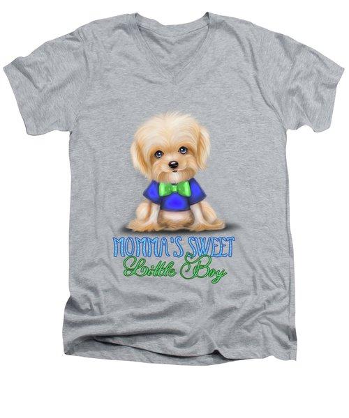 Mommas Sweet Little Boy Men's V-Neck T-Shirt