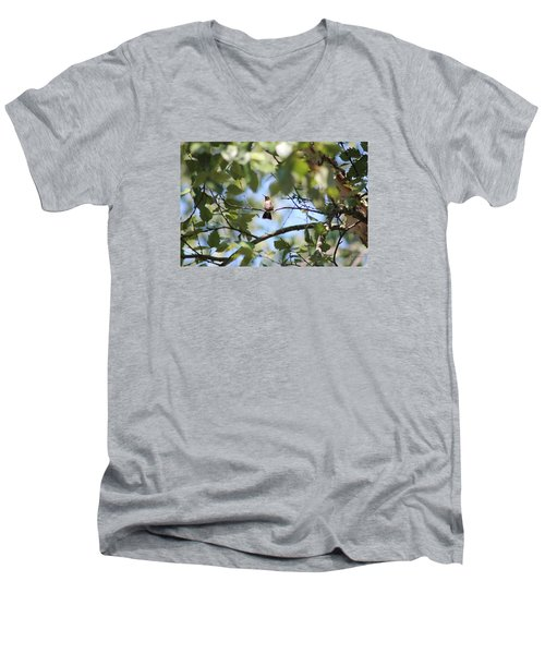 Men's V-Neck T-Shirt featuring the photograph Mommy Watching Babies by Debra     Vatalaro