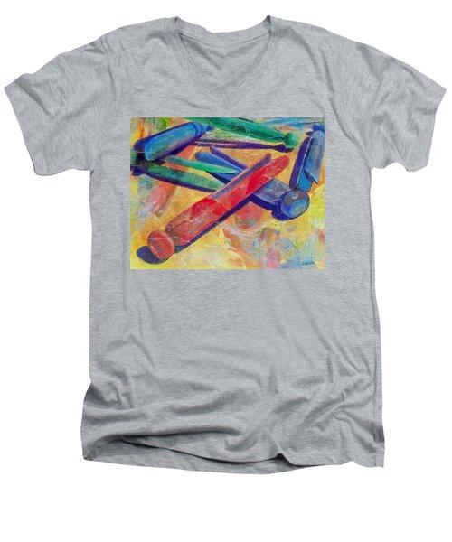 Mom's Wash Day Men's V-Neck T-Shirt by Susan DeLain