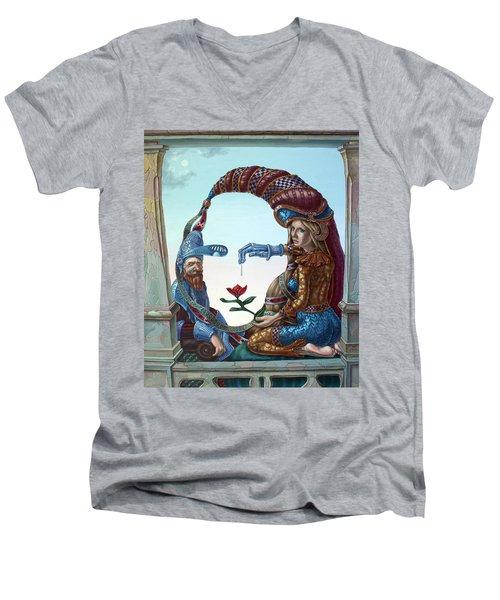 Mona Lisa. Love Men's V-Neck T-Shirt
