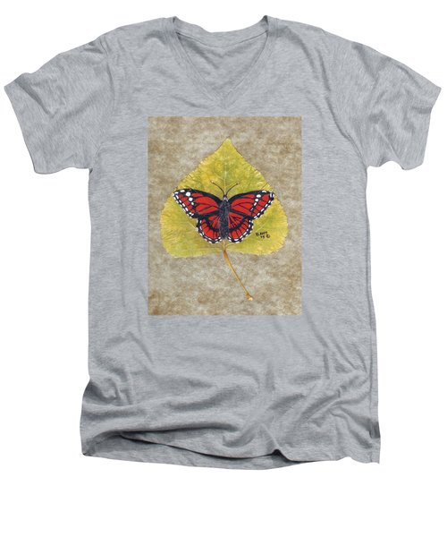 Monarch Butterfly Men's V-Neck T-Shirt by Ralph Root