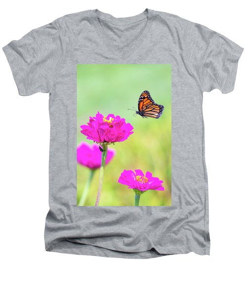 Monarch In Flight 1 Men's V-Neck T-Shirt