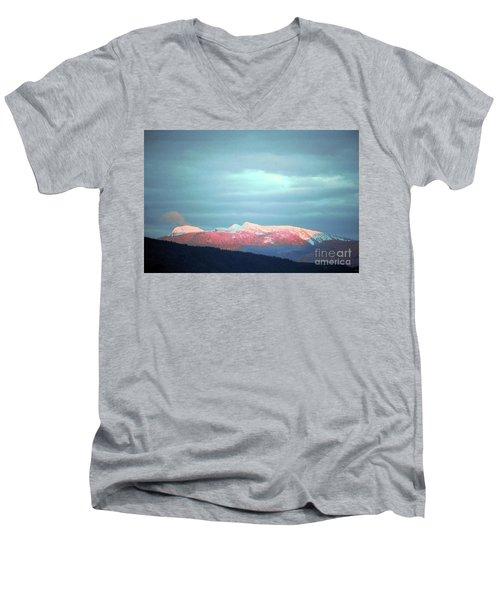 Monashee Sunset Men's V-Neck T-Shirt by Victor K