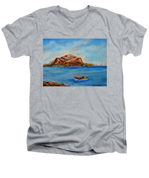 Monemvasia Men's V-Neck T-Shirt