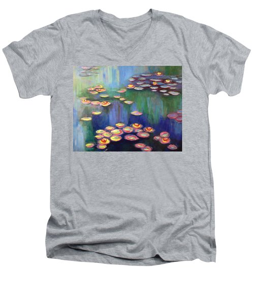 Monet's Lily Pads Men's V-Neck T-Shirt