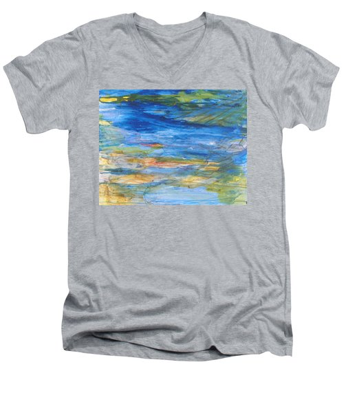 Monet's Pond Men's V-Neck T-Shirt