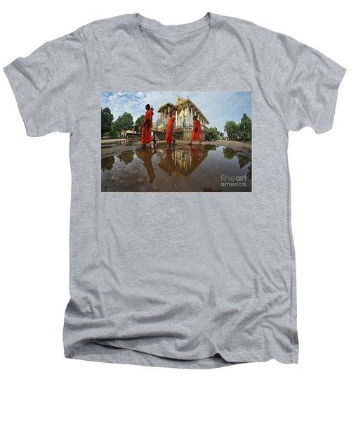 Monk Back Home Men's V-Neck T-Shirt