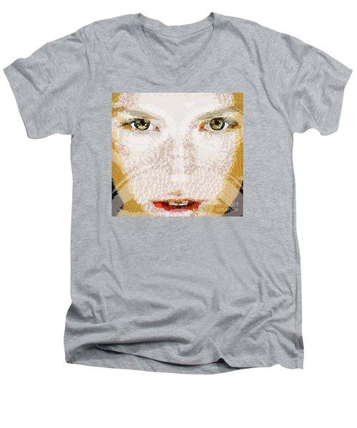 Monkey Glows Men's V-Neck T-Shirt by Catherine Lott
