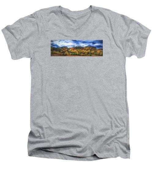 Monkton Ridge, Vt Men's V-Neck T-Shirt by Rena Trepanier